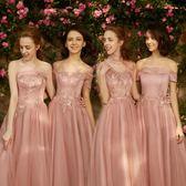 伴娘服晚禮服女顯瘦連身裙聚會小禮服