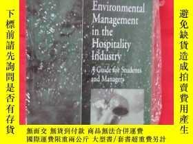 二手書博民逛書店Environmental罕見Management for the Hospitality Industry (小