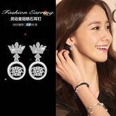【免運到手價$98】日韓版跳動的心耳釘簡約時尚皇冠心動女會動耳環配飾品