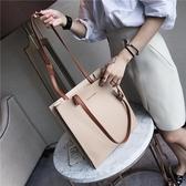 托特包包新款簡約軟皮單肩包時尚大容量女包百搭手提大包Mandyc