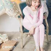 美好時光‧純棉舒適成套睡衣(粉色) M-L Size Choco Shop