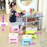 加厚款塑料折疊小板凳便攜式創意手提小凳子兒童坐凳家用成人矮凳 小巨蛋之家