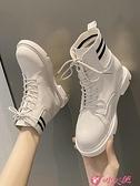 馬丁靴 馬丁靴顯腳小女潮秋鞋2021年新款百搭英倫風復古學生冬加絨靴 小天使