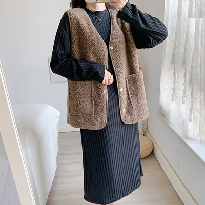 套裝/兩件式 洋裝大尺碼連身裙秋冬大碼女裝胖妹妹洋氣時尚馬甲打底連身裙兩件套裝M032依佳衣