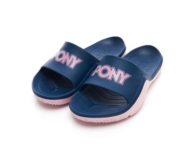 PONY 男女款藍粉涼拖鞋-NO.92U1FL07DB