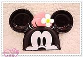 ♥小花花日本精品♥Hello Kitty迪士尼米妮臉頭 陶瓷餐盤 餐具分隔盤子 點心盤醬料盤00104203