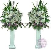 【大堂人本】羅馬柱鮮花 精緻 告別式 喪禮 追思 安息 高架 藝術 台北 弔唁 恩召