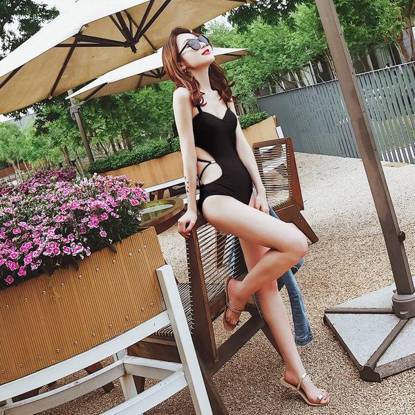 K.J時尚女郎瑪麗黛兒新款 泳衣女性感連體三角式小胸聚攏鋼托遮肚顯瘦歐美風
