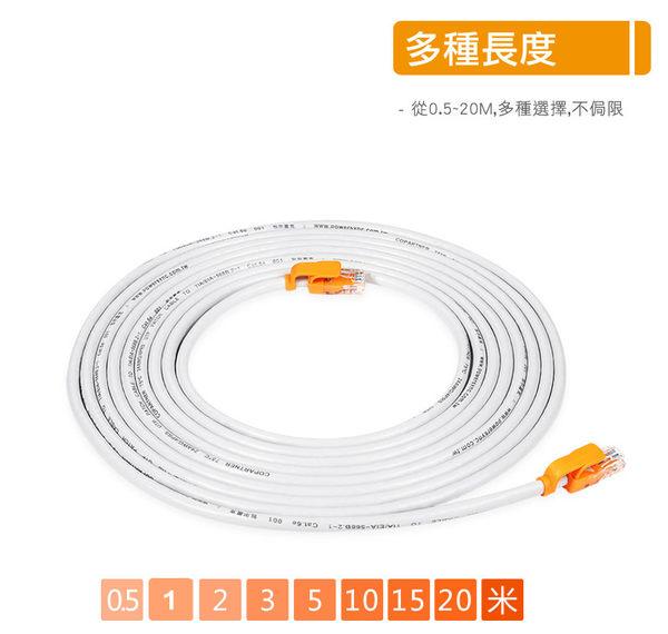 群加 Powersync CAT 5 100Mbps 耐搖擺抗彎折 網路線 RJ45 LAN Cable【圓線】白色 / 20M (CLN5VAR8200A)