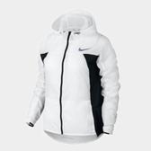 Nike AS W NK IMP LT JKT HD [831547-100] 女款 運動 健身 輕薄 風衣 拉鍊 連帽 外套 白黑