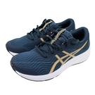 (C1) ASICS 亞瑟士 PATRIOT 12 女慢跑鞋 1012A705-403 深藍X金 [陽光樂活]