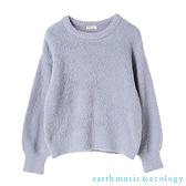 「Hot item」毛絨蓬鬆針織上衣 - earth music&ecology