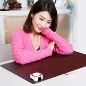 暖桌墊 喬愛斯發熱墊辦公室暖桌墊電熱書寫墊電腦暖手桌面加熱鼠標墊超大 免運 維多