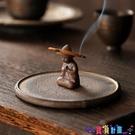 香爐 粗陶盤香爐家用香薰爐室內沉香檀香蚊香盤托架創意陶瓷香插香座臺寶貝計畫 上新