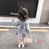 兒童連身裝 女寶寶秋裝洋裝2019新款嬰幼兒童長袖女童秋季洋氣韓版公主裙子 2色