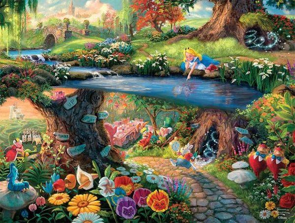 【拼圖總動員 PUZZLE STORY】愛麗絲夢遊仙境 日系/Beverly/Thomas Kinkade X 迪士尼/1000P