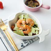 創意魚形盤子不規則餐具兒童餐盤家用陶瓷點心烤碗異形盤吾本良品