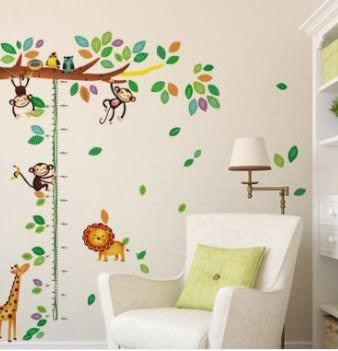 預購-立體牆貼 DIY家居裝飾 特別效果型時尚牆貼 身高尺