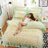 床单/被套 韓版床裙式三四件套公主風床單帶蕾絲花邊小清新被套