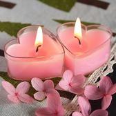 聖誕交換禮物-香薰蠟燭香薰蠟燭無煙浪漫心型玫瑰愛心小臘燭創意生日小蠟燭禮盒