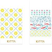 日本 KITTA 攜帶型和紙膠帶/Basic系列-蔓藤花紋【HITOTOKI 文房具】