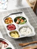 幼兒園餐盤不銹鋼兒童餐具寶寶餐廳分格托盤可愛分隔飯盒圓盤 麥琪精品屋