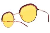 CARIN 太陽眼鏡 DENCI C3 (玫瑰金-深紅-橘鏡片) 韓星秀智代言 質感俏皮眉框款 # 金橘眼鏡