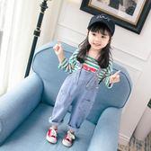女童秋裝新款牛仔褲2018新款洋氣嬰兒背帶褲