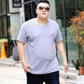 t恤男短袖洋氣胖子寬松特大號超大碼上衣胖人純棉半袖加肥加大t桖小衫 PA2508『pink領袖衣社』