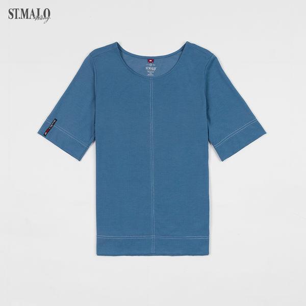 【ST.MALO】當代台灣原創銀纖維機能女上衣-1928WT-尼羅藍