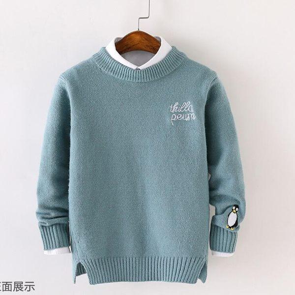 毛衣 秋冬新款兒童毛衣套頭正韓男童針織衫中大童線衣休閒毛衫