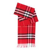 【BURBERRY】基本款經典格紋喀什米爾圍巾(鮮紅)3993742 PARADE RED