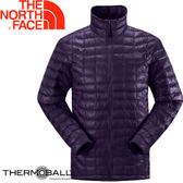 【The North Face 男 ThermoBall 暖魔球 保暖外套 深茄紫】 C939/暖魔球外套★滿額送