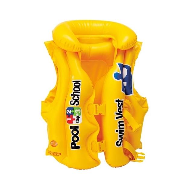 救生衣 INTEX兒童救生衣浮力背心寶寶游泳裝備小孩手臂泳圈漂流馬甲泳衣 星河光年DF