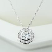項鍊+925純銀 鑲鑽吊墜-精緻迷人生日母親節禮物女飾品73gu45【時尚巴黎】