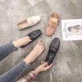 秋鞋女新款韓版豆豆鞋女晚晚鞋大碼平底鞋網紅單鞋百搭小皮鞋
