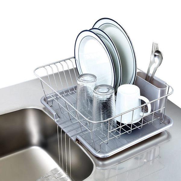 日本ASVEL流理台餐盤收納架附瀝水盤