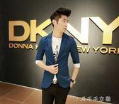 青年大碼七分袖西服韓版修身中袖西裝男士半袖薄款外套潮禮服 消費滿一千現折一百