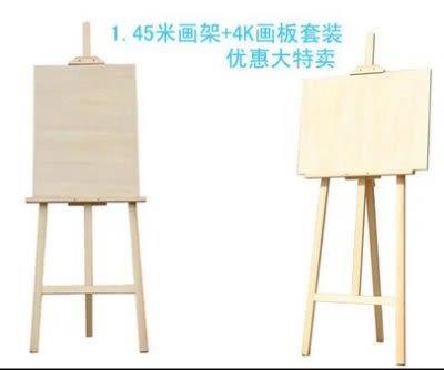 1.45米畫架+4K畫板套裝  木制 素描畫架【藍星居家】