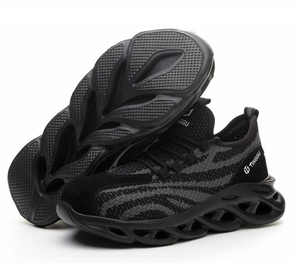 男女款 TG16 柔軟飛織網布輕量防砸防穿刺 鋼頭鞋 防護鞋 工作鞋 安全鞋 勞工鞋 女生鋼頭鞋 59鞋廊
