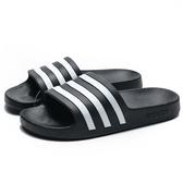 ADIDAS AQUA 黑底 白 輕量 防水 膠拖  拖鞋 女 (布魯克林) G28723
