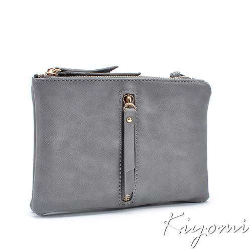 街頭時尚雙層多功能方包-灰色KB069-GR KIYOMI