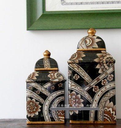 歐式陶瓷擺件儲物罐【大】