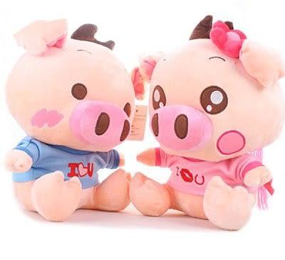 可愛小豬豬娃娃特價毛絨玩具情侶款麥兜豬公仔 中號30公分