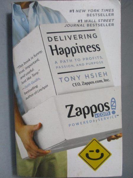 【書寶二手書T4/傳記_NRA】Delivering Happiness-A Path to Profits, Pass