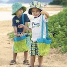 寶寶沙灘貝殼收納袋 兒童寶貝收藏袋 便攜式網格收納袋