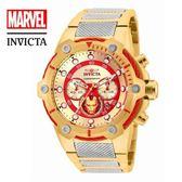 【INVICTA X MARVEL】漫威聯名款 鋼鐵人 雙色男士計時腕錶 51.5 mm