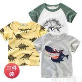 韓版童裝夏季兒童短袖t恤純棉 中小童上衣 新款男童半袖汗衫可卡衣櫃