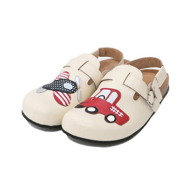 【Jingle】美國大飛機前包後空軟木鞋(百搭米大人款)
