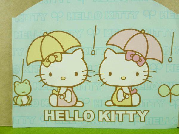 【震撼精品百貨】Hello Kitty 凱蒂貓~造型卡片-藍青蛙